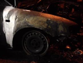 Auto spłonęło na Siedlcach