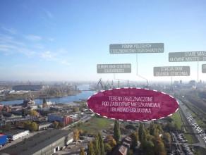 Panorama z nad budynkdu C200 Office w Gdańsku (Euro Styl)