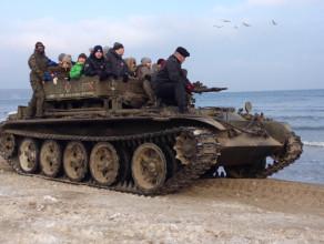 WOŚP Sopot - militarnie na plaży