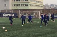 Pierwszy trening 2016 Arki Gdynia z udziałem Kakoko