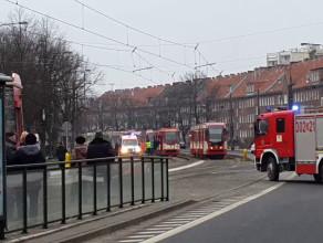 Wypadek i wstrzymane tramwaje