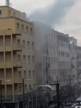 Pożar 20.01.2016r. ok godz. 8.50 w Gdyni
