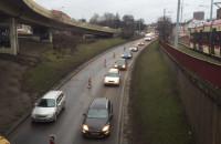 Zwężenie na ul. Okopowej w Gdańsku