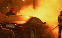 Pożar samochodu na Kołobrzeskiej