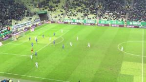 Sławomir Peszko strzela gola na 5:0 w meczu Lechia - Podbeskidzie