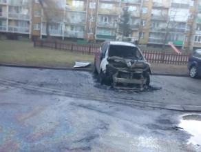 Spalony samochód w Gdańsku