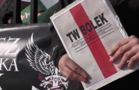 Pikieta Młodzieży Wszechpolskiej w sprawie Lecha Wałęsy