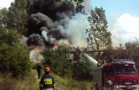 Pożar na ulicy  Starogardzkiej w Gdańsku