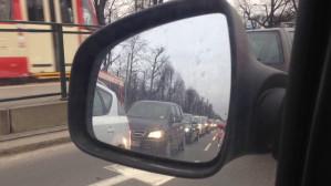 Gęsto, oj, gęsto na alei Zwycięstwa w Gdańsku