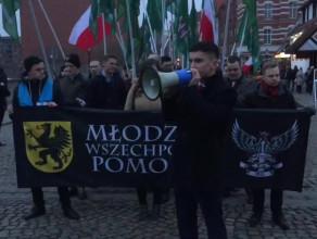 Początek marszu Młodzieży Wszechpolskiej