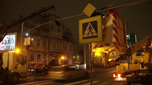Montaż sygnalizacji świetlnej na Grunwaldzkiej