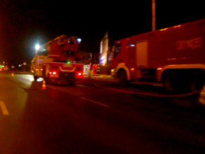 Pożar przy ul. Kolejarzy
