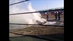 Pożar samochodu Gdańsk Karczemki