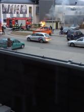 Pożar samochodu na Kowalach