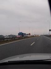 Korek na S7 w kierunku Elbląga