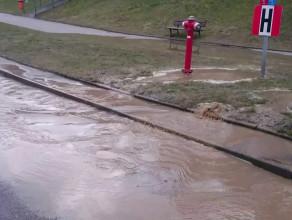 Mała powódź na Oruni Górnej