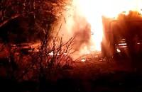 Pożar na Niepołomnickiej przy zabudowaniach