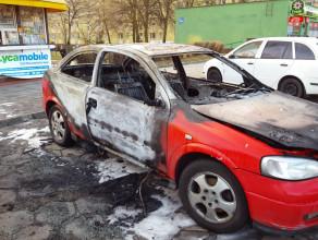 Spalony samochód na Przymorzu