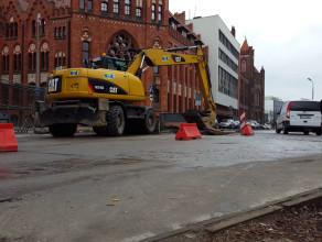 Ruch wahadłowy na wyjeździe z centrum Gdańska