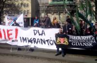 Domonstracja przeciwko uchodźcom - Młodzież Wszechpolska