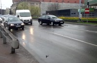 Stłuczka trzech aut przy Zieleniaku