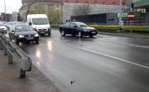 Zderzenie trzech aut na Błędniku