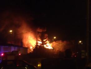 Pożar pustostanu przy ul. Kolonia Zręby