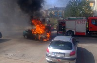 Pożar samochodu na Ujeścisku