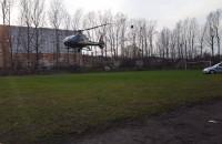 Helikopter startuje z boiska na Żabiance
