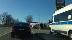 Wypadek z rowerzystą pod Fashion H.