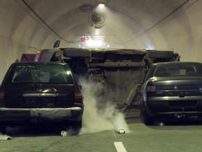 Symulacja wypadku w tunelu pod Martwą Wisłą