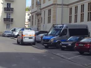Ewakuacja z sądu przy ul. Nowe Ogrody w Gdańsku