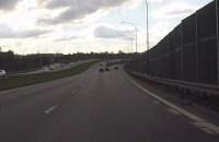 Ostro z lewego pasa w prawo na trasie W-Z