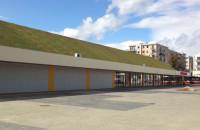 Wielki roślinny dach sklepu