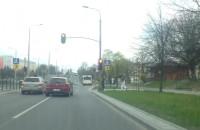 Na czerwonym po ul. Bulońskiej w Gdańsku
