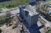 Wyburzanie budynku Nordea w Gdyni