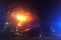 Pożar na ul. Wolności w Gdyni