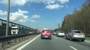 Wypadek na obwodnicy w stronę Gdańska