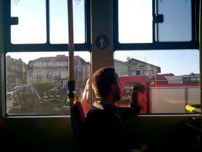 Potężny wypadek na trasie W-Z widziany z tramwaju