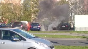 Pożar aut na Morenie