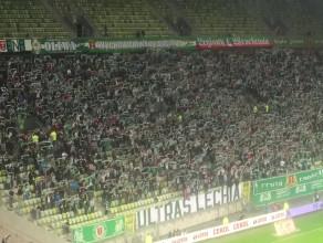 Doping kibiców Lechii Gdańsk na meczu z Ruchem Chorzów