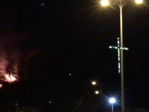Pożar na Kamiennej Górze w Gdyni - Willa Orla