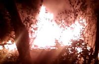 Pożar pustostanu - Kolonia Anielinki
