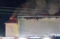 Pożar budynku mieszkalnego w Rumi