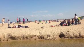 Ładna pogoda = pełna plaża