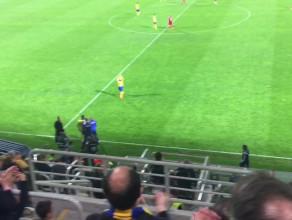 Owacja na stojąco dla Mateusza Szwocha, strzelca gola na wagę ekstraklasy dla Arki Gdynia