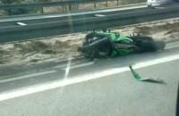 Wypadek motocykla na obwodnicy