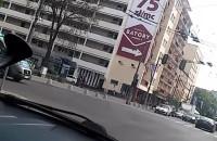 Dużo radiowozów w centrum Gdyni