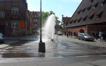 Gejzer wodny naprzeciw kościoła św. Katarzyny