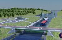 Wizualizacja kanału żeglugowego na Mierzei Wiślanej